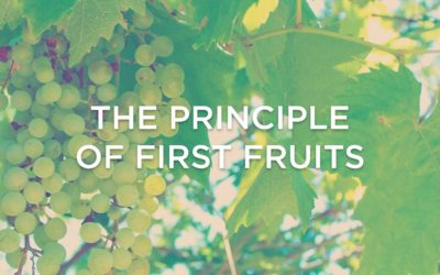 The Principle of First Fruits